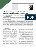 Selection of Copper Against Aluminium Wi