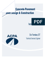 All About Concrete Pavement Joint Design and Construction FINAL 100214