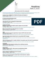 CCA Headlines August 14-18, 2017