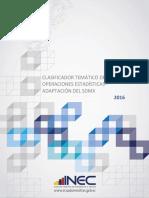 Clasificador Tematico Estadistico (SDMX)