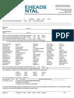 Medical Health History Form Aug 2015