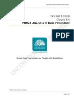 PR021 Analysis of Data Procedure