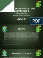 Analise de Circuitos Elétricos I - Aula 0