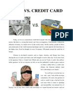Cash Versus Credit Card (Paper Work)