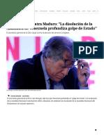 Luis Almagro Contra Maduro_ _La Disolución de La Asamblea de Venezuela Profundiza Golpe de Estado