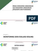 Materi 6 Monitoring Dan Evaluasi Kesling Orientasi Terpadu 2017_edit240317