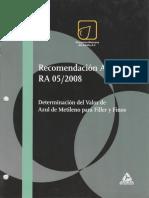 Recomendación AMAAC RA 05 2008