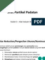 Kuliah 3 – Alat Industri Kimia - Sifat Partikel Padatan
