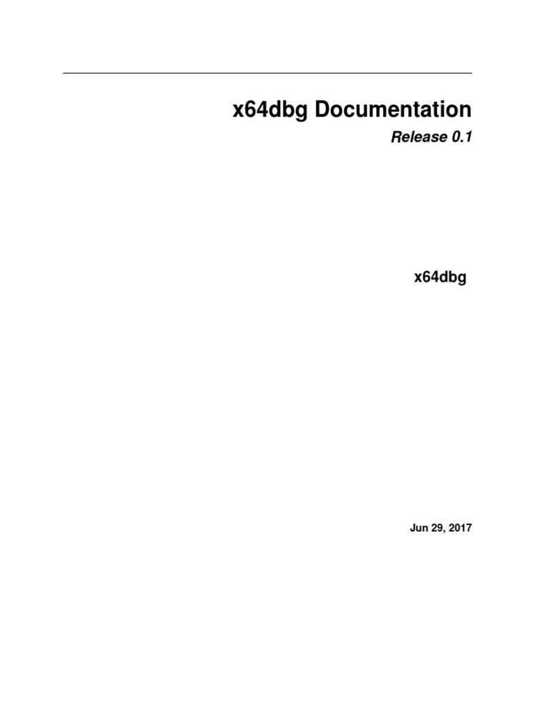 x64dbg | Menu (Computing) | Graphical User Interfaces