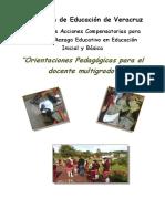 Orientaciones Pedagogicas Para El Docente Multigrado