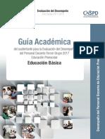 1.  Guía Académica Preescolar. Evaluación 2017