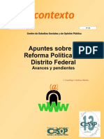 Apuntes Sobre La Reforma Política Del Distrito Federal. Avances y Pendientes