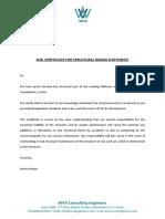 WVA Stability Certificate