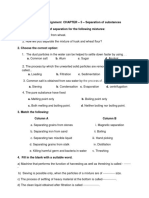 Separation of Substances Assignment Class 5 CBSE