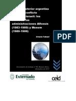 Ceid Dt 89 Ornela Fabani Politica Exterior Argentina Frente Al Conflicto Palestino Israeli