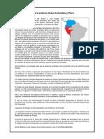Guerra Entre La Gran Colombia y Perú