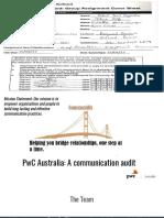PWC FINAL; A Communicaiton Audit
