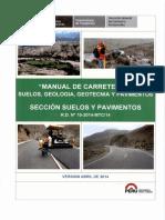 MANUAL DE CARRETERAS MTC - Peru (Actual) Suelos, Geología, Geotecnia y Pavimentos