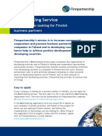 Finnpartnership Matchmaking Flyer