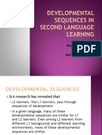 Develpoment Sequence of L2 Learning