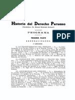 Dialnet-ProgramaDelCursoDeHistoriaDelDerechoPeruano-5614610