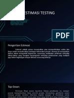Teknik Estimasi Testing