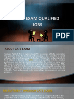 Gate Exam Qualified Jobs