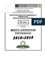 Reglamento Interno Estudiantes 2015