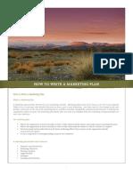How to Write Marketing Plan