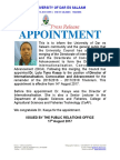 Appointment Dr Kaaya