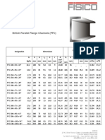 British Parallel Flange Channels PFC