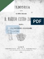 Memoria Castro Zaldivar 1883
