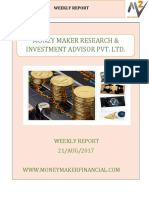 21 Aug 2017, Stock Market Weekly Report  By Money Maker Research