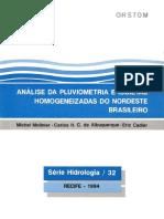 Isoietas nordeste brasileiro