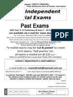 2017 Past Exams