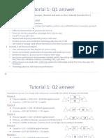 Tutorial 1 Solutions