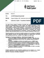 Heme SF Transfusion Guidelines