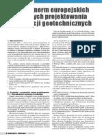 Przeglad Norm Europejskich Dot Projektoanie Konstrukcji Geotechnicznych