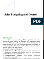 5.Sales Budgeting and Control
