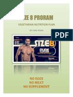 Size 8 Veg Nutrition Plan by Guru Mann