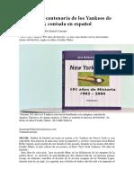 La Historia Centenaria de Los Yankees de Nueva York Contada en Español