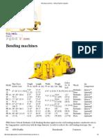 Bending Machines - Global Pipeline Supplies