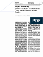 Slow Sand Filter Maintenance Costs and Effects on Water Quality Project Summary