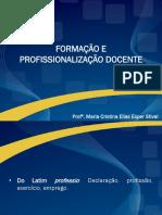 Formacao e Profissionalizacao Docente Maria Cristina SLIDESUNIDADE 1