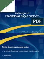Formacao e Profissionalizacao Docente Maria Cristina SLIDESUNIDADE 3