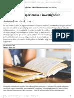 Intelectuales, Experiencia e Investigación Militante