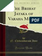 The Brihat Jataka of Varaha Mihira