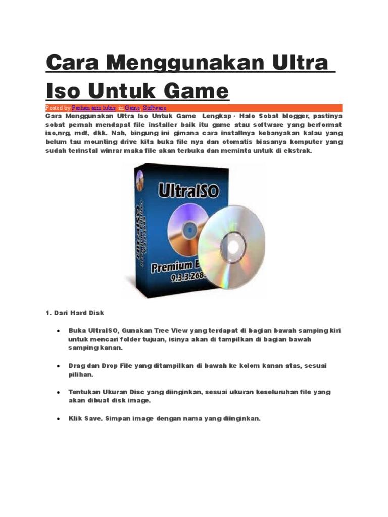 Cara Menggunakan Ultra Iso Untuk Game.docx