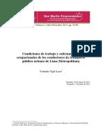 Conductores de Transporte Público Lima Metropolitana