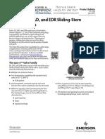 Fisher Easy e ED Universal Globe Valve Sliding Stem Valves Data Sheet